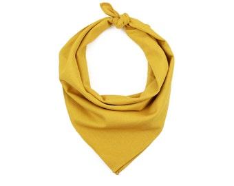Mustard Linen Bandana