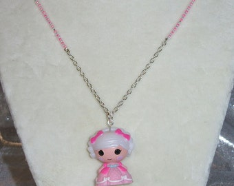 Lalaloopsy Suzette La Sweet Pendant Necklace Custom made with Glass Beads by TorresDesigns OOAK One of a Kind Ready To Ship