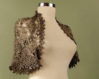 Charcoal Grey Wedding Shrug Bolero, Knit Shrug, Crochet Shrug, Crochet Bolero, Evening Bolero, Wedding Shrug, Summer Cover Up Evening Wear
