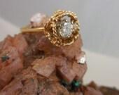 14k Yellow Gold Brilliant Cut 1/2 Carat Diamond Solitaire Ring