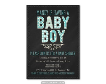 Baby Boy Baby Shower Invitation, Sip and See, It's a Boy Printable Baby Shower, Pastel Blue Baby Shower, Printable, Digital 0517