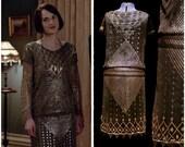 1920s flapper dress. Assuit. Art Deco. Egyptian Revival. Downton Abbey.