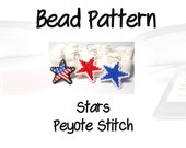 Bead Patterns Patriotic Stars, Peyote Stitch, Delica Seed Beads | DIGITAL DOWNLOAD