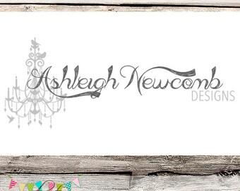 FULLY CUSTOMISABLE - Premade Logo - Ashleigh Newcomb - Photography - Design - Branding - Etsy Logo - Watermark