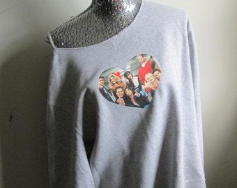 Beverly Hills 90210 Off The Shoulder Sweatshirt