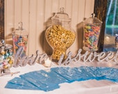 Love Is Sweet Wedding Signs for Dessert Table - Sign for Candy, Dessert, or Wedding Table Decor - Wooden Signs for Wedding (Item - LIS200)
