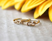 Gold Knot ring, heart knot ring, bridesmaids gifts, help me tie the knot ring