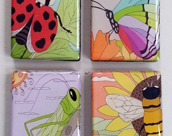 Garden Insects Magnet Set