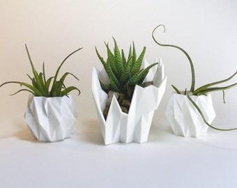 creative planter unique planter faceted unique gift set