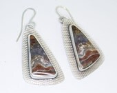 Serape Jasper Earrings in Sterling Silver Dangle