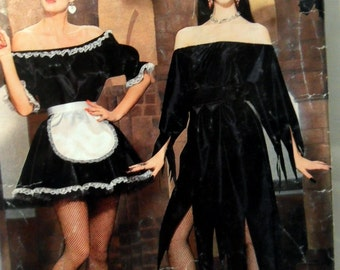 Butterick 5800 Easy Misses Costume French Maid Elvira Size Petite Small Medium Large UNCUT