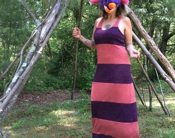 Mesh Tiramisu Maxi Dress