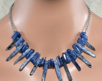 LP 1356 Kyanite Slices And Kyanite Spikes One Of A Kind Necklace