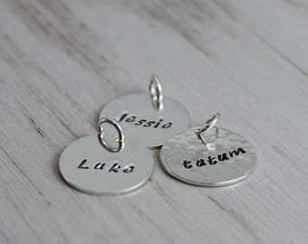 """hand stamped sterling silver 