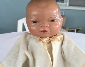 Composition Doll Grace Storey Putnam Bye lo  Baby/ Antique Composition Doll/Cloth Doll/ c.1940's By Gatormom13