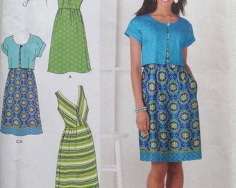 Simplicity 2177 Sewing Pattern - Summer Dress and Short Sleeve Jacket - Sizes 6-8-10-12-14, Bust 30 1/2 - 36, Uncut