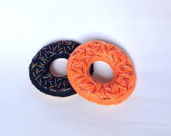 Felt food Halloween donut set eco friendly children's play food for toy kitchen, felt donut, donuts with sprinkles, toy donuts