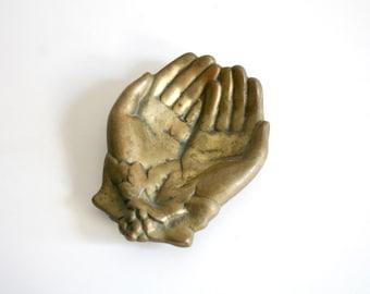 Brass Hand Catch Dish