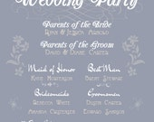 Wedding Party Who's Who Sign Digital File - Customize Text and Colors For Your Wedding