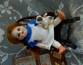 """Antique All Bisque Doll House German Glass Sleep Eyes 4 1/2"""""""