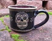 Skull Mug - stoneware coffee cup