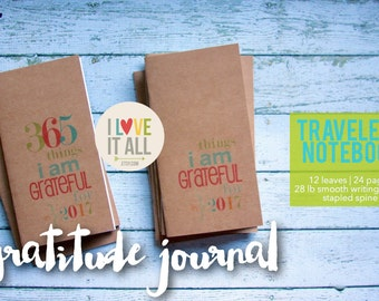 Gratitude Journal . Midori Travelers Notebook Bujo Planner Insert . Fauxdori Standard Refill . Grateful Thankful Blessed Thankfulness Jotter