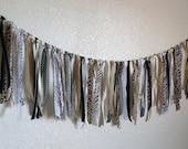 Safari Animal Print Ribbon Banner/Party or Nursery Decoration/Photo Prop