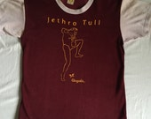 Jethro Tull Fabulously Beaten Up and Funky 70's Rayon Cotton Old School  True Vintage Color Block Ringer T Shirt