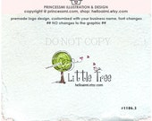 1186-3 Tree logo, Premade doodle tree Logo Design, photography logo, yarn logo, business logo