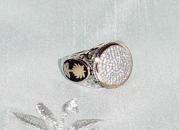 33 TCW Natural Diamonds, 14kt White & Rose gold Men's Ring Size 11