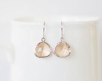 Samantha Earrings - Silver/Champagne