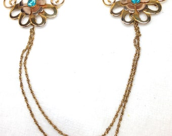 Double Brooch with Connecting Chain
