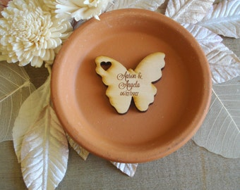 Wood Butterfly Wedding Favors 50 pieces Butterflies