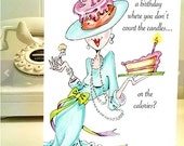 Funny Birthday card, funny women humor greeting cards for her, women humor, funny women cards, funny birthday