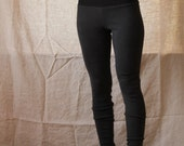 Organic High Waisted Leggings- Organic Hemp/Cotton Rib Knit