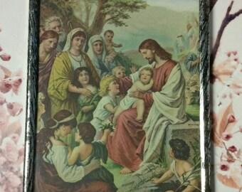 Vintage Jesus Religious Wall Art Frame Print