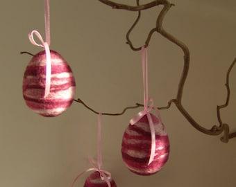 Felt Easter Eggs - Hanging Eggs - Spring Egg Ornament