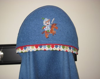 NEW Knight on Horse towel hooded towel personalized many colors