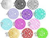 Monograms - 12 Styles - Gloss or Glitter Vinyl - Adheres to Yeti, Ozark, Arctic, Tumblers, Glass and Laptops - Customize