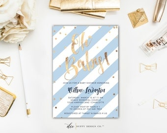 baby boy shower invitation  etsy, Baby shower invitations