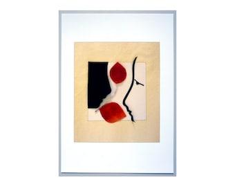 Affectionately yours, Collage Art Print, figurative modern art, decorative wall art