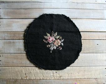 Vintage Needlework Seat Cover / Pillow Panel