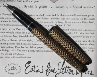 Vintage Lady Sheaffer's Skripsert Fountain Pen Vintage Lady Sheaffer Clipless Cartridge Fill Pen Paisley Vintage Fountain Pen