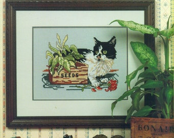 CURIOUS CATS ... MISSY Canterbury Designs Leaflet #20 Counted Cross Stitch Pattern