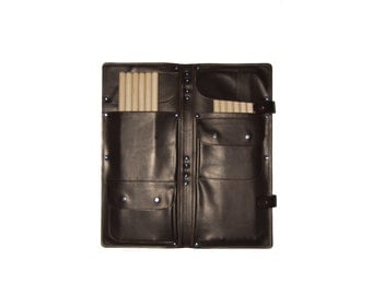 Brown Leather Stick Bag, Drumstick Bag,