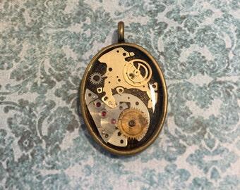 Steampunk Mechanist's Pendant