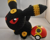 Umbreon Pokemon Inspired Pokedoll Amigurumi - OOAK