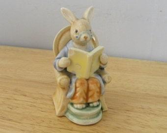Grandpa Bunny - Golden Rose Giftware - Bunny in Chair Ornament