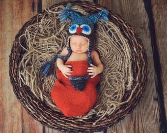 Owl Baby Shower Gift - Baby Hats - Owl Hat - Baby Owl Hat - Newborn Owl Hat - Woodland Owl Photo Prop Hat - by JoJosBootique