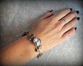 Industrial Style Bracelet, Upcycled Bike Chain Bracelet, Gear Bracelet, Mixed Metal Bracelet, Steampunk Bracelet, Hardware Jewelry, Found